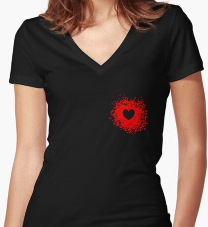 The Heart With-In Women's Fitted V-Neck T-Shirt