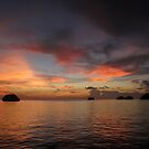 Sunset at Wayag by Reef Ecoimages