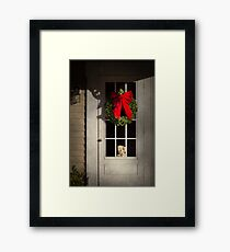 Winter - Christmas - Clinton, NJ - Christmas puppy  Framed Print
