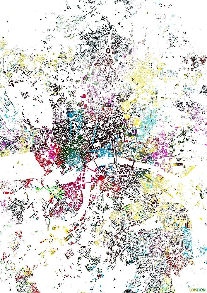 London splash painting map by nicksman