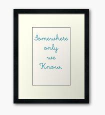 somwhere blue Framed Print