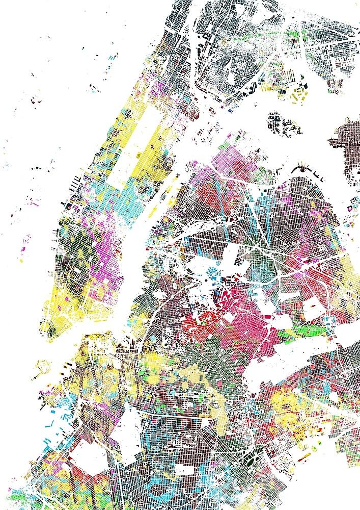 New York splash painting map by nicksman