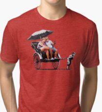 Banksy - Rickshaw Tri-blend T-Shirt