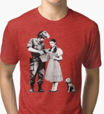 "Banksy ""Stop and Search"" Tri-blend T-Shirt"