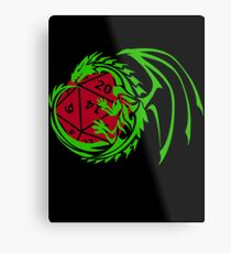 Dungeons and Dragons - Custom Colors Available! Metal Print