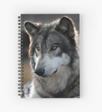 back light wolf Spiral Notebook