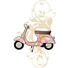 Vespa Darling iPhone case by olivehue