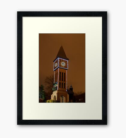 Clock Tower Main Strauss KY Framed Print
