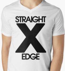 Straightedge Mens V-Neck T-Shirt