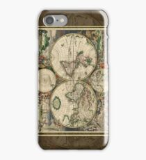 World Map 1689 iPhone Case/Skin