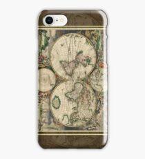World Map 1689 iPhone Case/Skin
