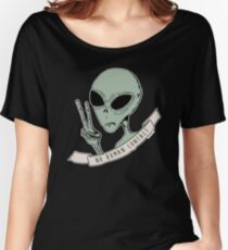 No Human Contact Women's Relaxed Fit T-Shirt