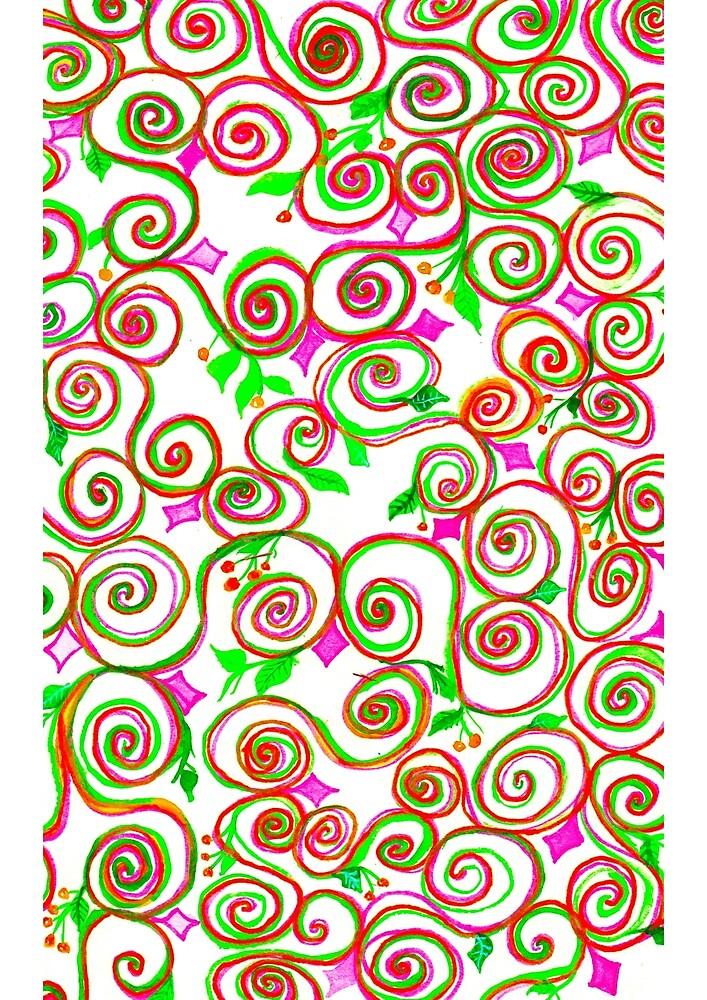 delicate ethnic pattern by oyuornek