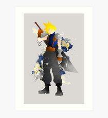 Final Fantasy 7: Cloud Strife Giclee Art Print Art Print