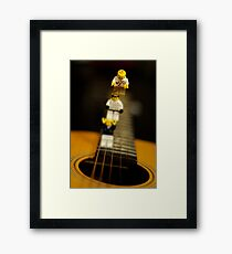 I don't know guys, it sure looks like a long way down... Framed Print
