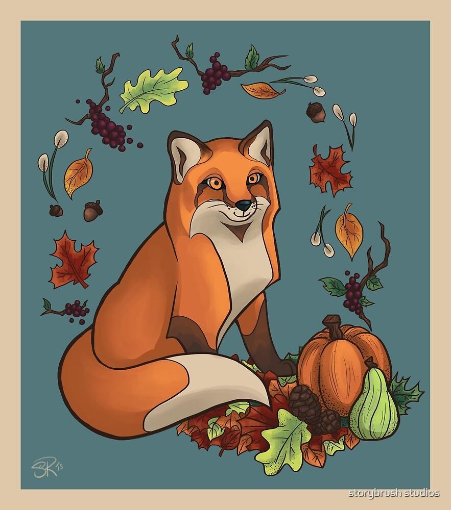 Autumn Fox by storybrush studios