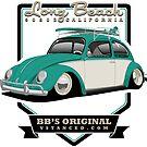 Long Beach - Green - Sticker by BBsOriginal
