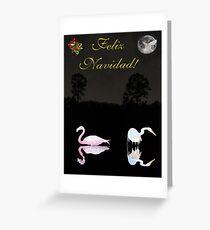 Felix Navidad Lesvos Salt Flat Birds Merry Christmas Greeting Card