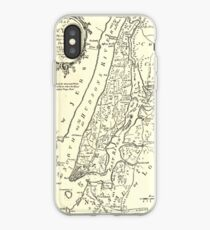 Vinilo o funda para iPhone Vintage Map of New York City (1893)