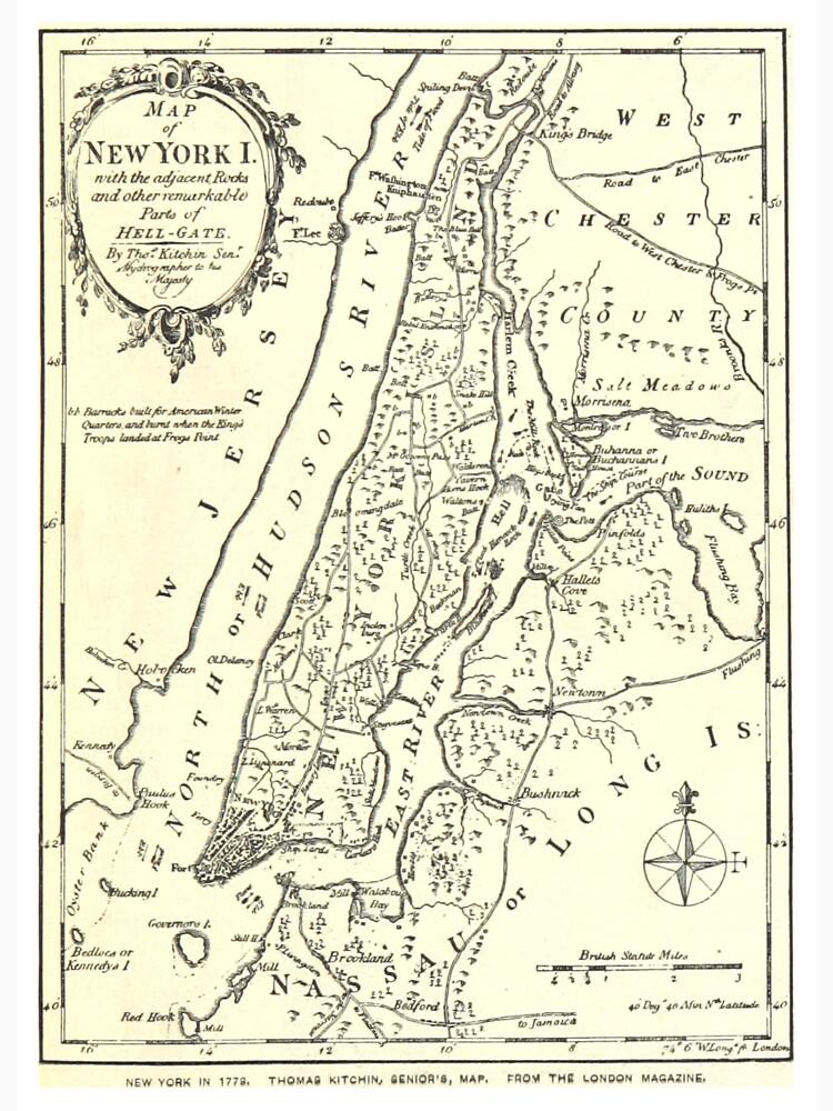 Vintage Map of New York City (1893) de BravuraMedia