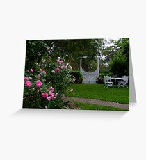 Country Cottage Garden Greeting Card