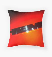 HEMI Logo - taken from 2010 Dodge Challenger R/T Throw Pillow