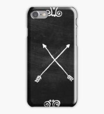 White arrows iPhone Case/Skin