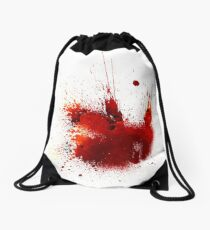 Splash Space Red Drawstring Bag