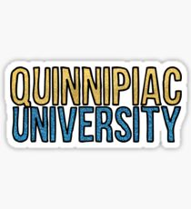 Quinnipiac Glitter Sticker