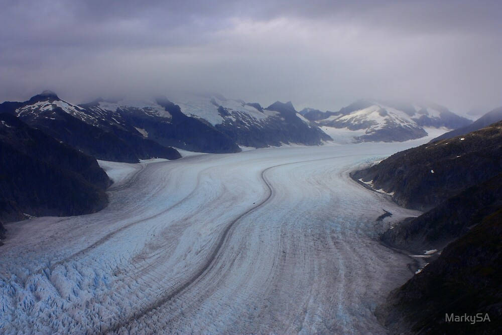 Glacier View from Helicopter by MarkySA