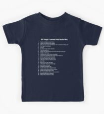 25 Things I've Learned from Doctor Who Kids Tee