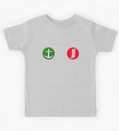 Green Anchor, Red Waterfall Kids Clothes