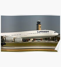 Panning with Lufthansa Poster