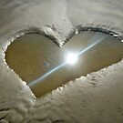 Heart Shaped Sand by Dan Jesperson