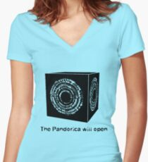 The Pandorica Will Open Women's Fitted V-Neck T-Shirt