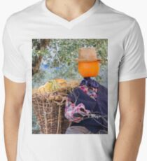 decorative pumpkins as a man on motorcycle T-Shirt