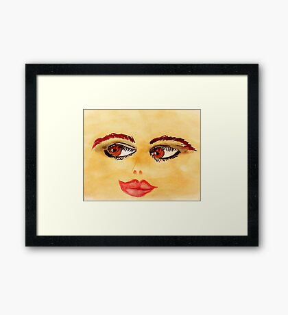 Opps too much paint on my brush,or not enough paper,,lol, watercolor Framed Print