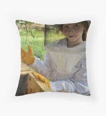 Bee Young Throw Pillow