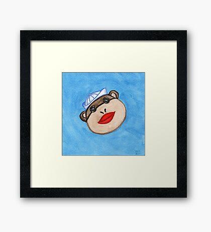 Monkey Sailor Framed Print