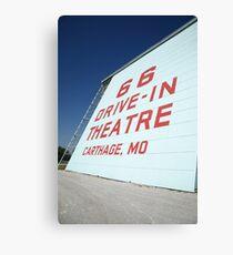 Route 66 Drive-In Theatre Canvas Print