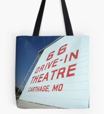 Route 66 Drive-In Theatre Tote Bag