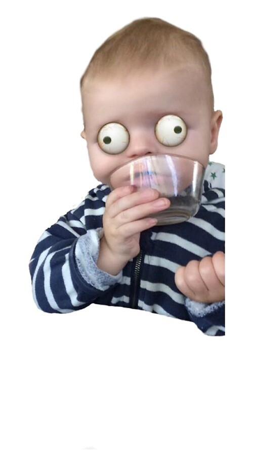 Crazy Eyed Baby by yohhanna