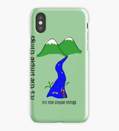Fly Fishing - Simple Things iPhone Case/Skin