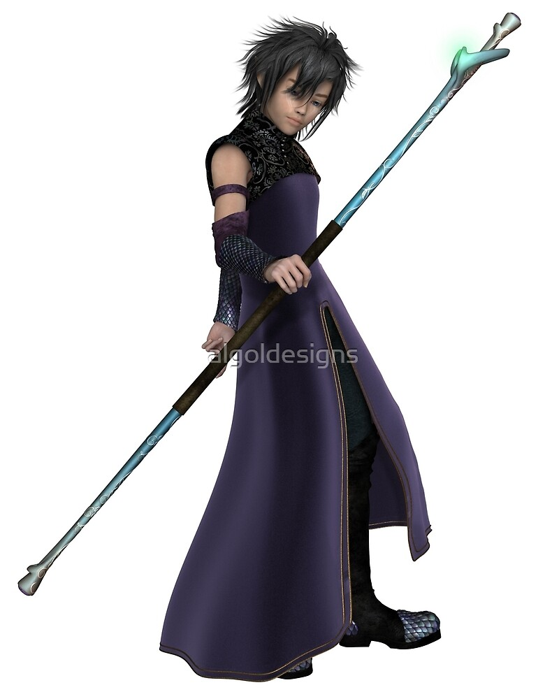 Young Sorcerer in Purple Robes by algoldesigns