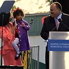 Martin Luther King Jr. III and family by Matsumoto