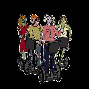 Zombies on Segways by leeleeandthebee