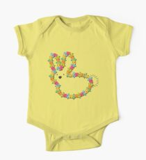 Colorful Jigsaw Whimsical Baby Bunny Kids Clothes
