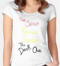 Two sides of Emma Swan Women's Fitted Scoop T-Shirt