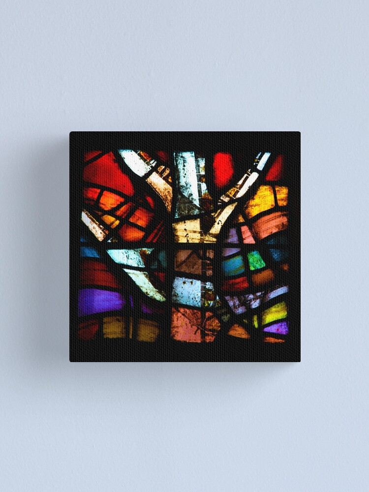 Alternate view of Stained Glass in Coventry Cathedral Canvas Print