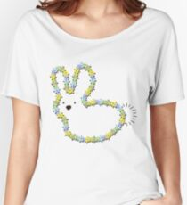 Blue Jigsaw Whimsical Baby Bunny Women's Relaxed Fit T-Shirt